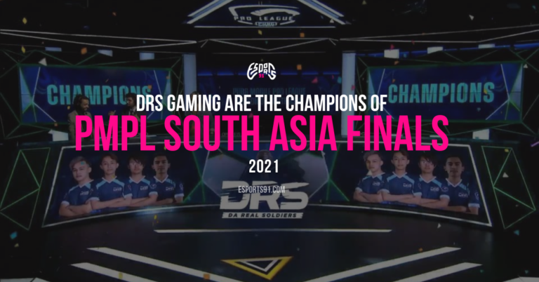 """Nepal's """"DRS GAMING"""" are the Champions of the PMPL SOUTH ASIA Finals 2021"""