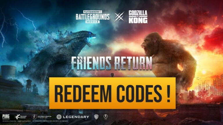 PUBG Mobile Godzilla vs Kong redeem codes and how to redeem.