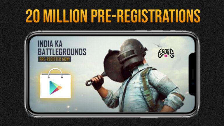 Battlegrounds Mobile India has Crossed 20 Million Pre-Registrations