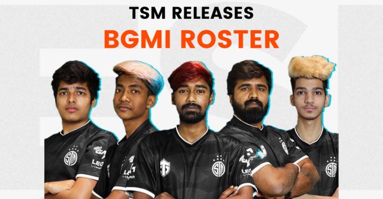 TSM releases their Battlegrounds Mobile India roster.