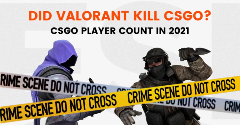 Did Valorant kill CSGO? CSGO player count statistics in 2021.