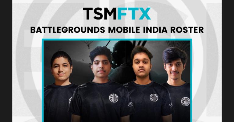 TSM FTX Finally Announces their BGMI Roster