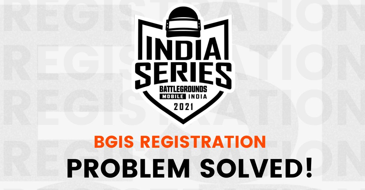BGIS registration problem