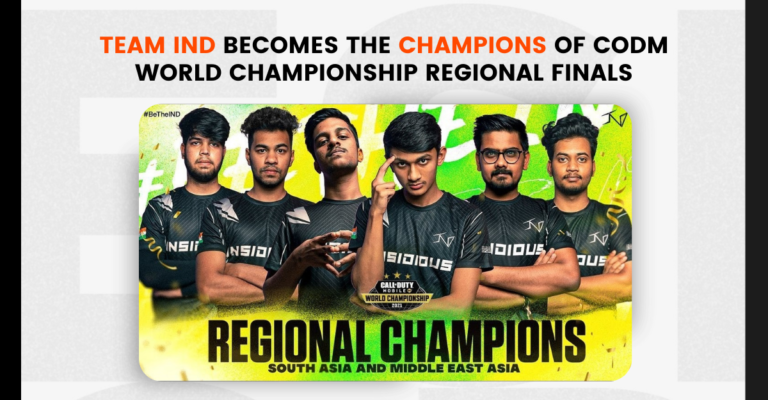 Team IND becomes the champions of COD Mobile World Championship SA/ME regional finals