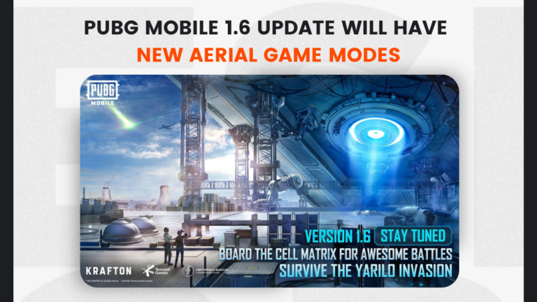 PUBG Mobile 1.6 update will be released on the 14th Sept with new aerial game modes