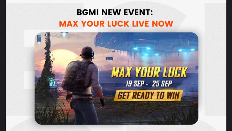 BGMI New Event: Max Your Luck Live Now: Rewards & Details