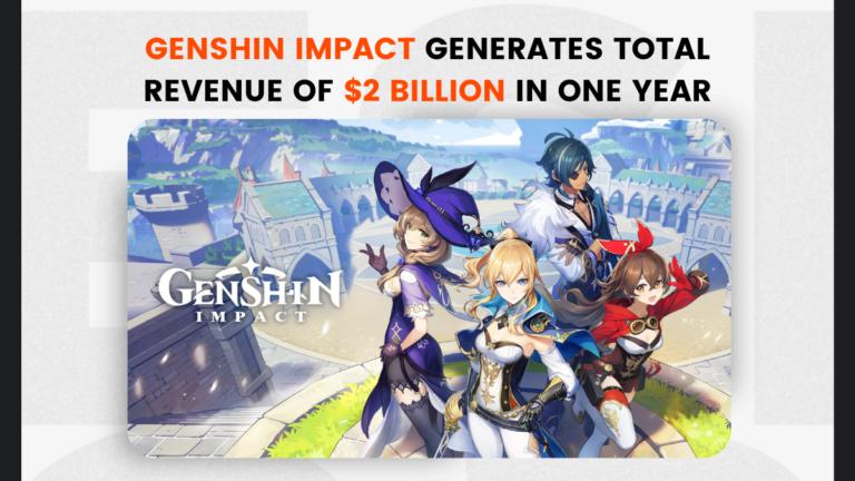 Genshin Impact generates total revenue of $2 billion in one year