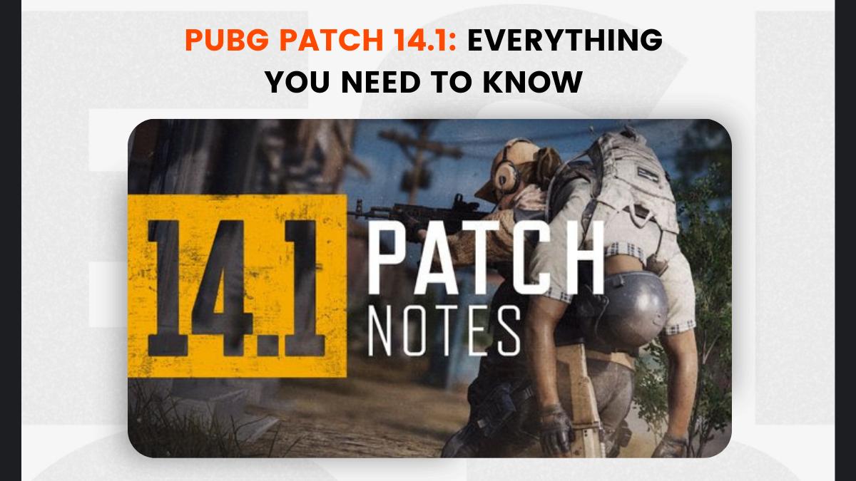 PUBG Patch 14.1
