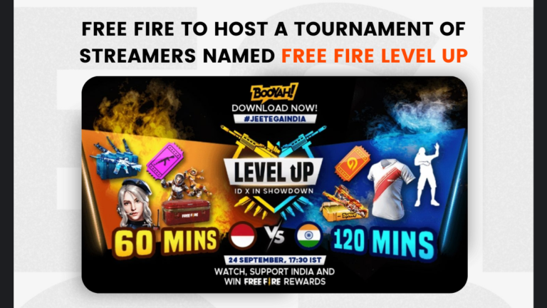 Free Fire to host a tournament of streamers named Free Fire LEVEL UP