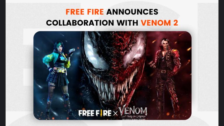 Free Fire Announces Collaboration with Venom 2: Rewards Details