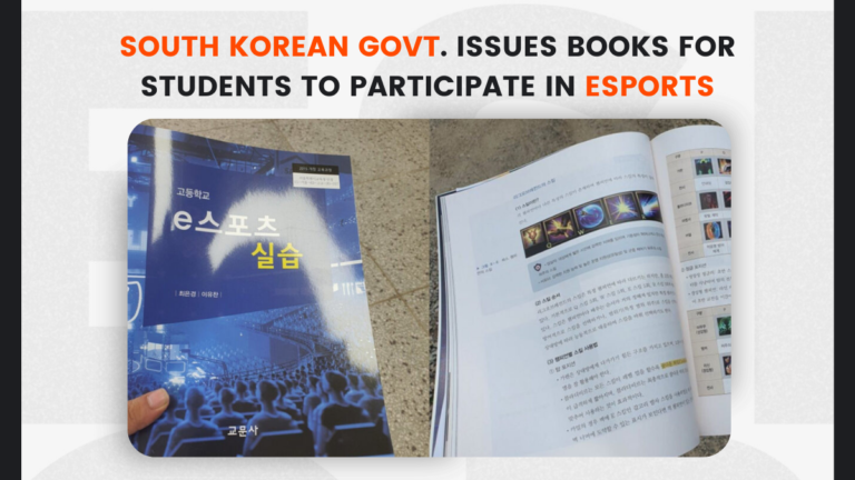 South Korean Government Issues Books for Students to Participate in Esports