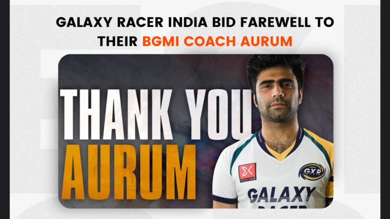 Galaxy Racer India Bid Farewell to their BGMI Coach Aurum