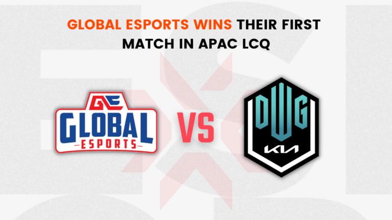 Global Esports wins their first match in APAC LCQ